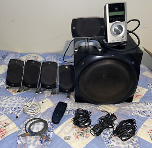 Logitech Z-5500 5.1 Digital Surround Sound Speaker System THX Subwoofer Remote