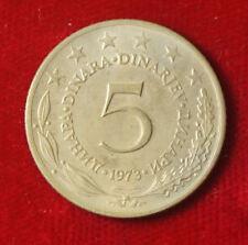 Münze Coin Jugoslawien Jugoslavija 5 Dinar Dinara 1973 (G5)