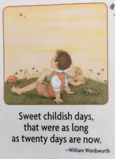 Mary Engelbreit Handmade Magnet-Sweet Childish Days