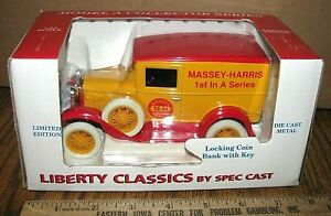 MASSEY HARRIS Dealer Model A Ford Pickup Truck 1/25 Bank 1985 Toy 1st Series MH