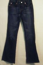 """SEVEN FOR ALL MANKIND WOMAN / GIRL PINK """"A"""" PACKET DARK WASH FLARE SIZE 26"""