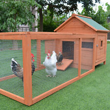 Chicken Coop 1.8M Classic Wooden Chicken House Hutch Egg cage with Big Run T055