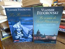 lot de 2 livres de vladimir fédorovski - le roman de saint pétersbourg