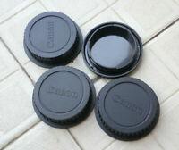 3x Rear Lens Caps+ 1x Camera Body Cover for Canon EF EF-S 60-80D 750D 760D 7D 5D