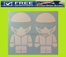 (2) THE STIG FUNNY VINYL DECAL STICKER Top Gear Drift Illest Euro Import Racing