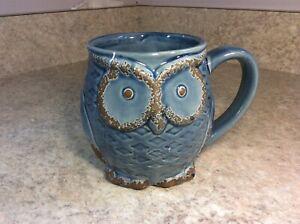 Owl Coffee Mug. 18OZ. New. You choose Purple, Blue, Yellow, Mint Green