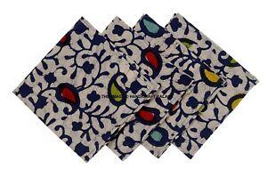 Indio Impresión de Paisley Batik Servilletas 4PC Juego Decoración Mesa Tela