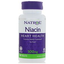 Natrol Niacin Time Release TR 500 mg New, Sealed 100 Tablets