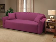 "JERSEY SOFA ""STRETCH"" COUCH SLIPCOVER--LAZY BOY----PURPLE---VISIT OUR EBAY STORE"
