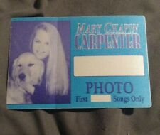 Mary Chapin Carpenter Backstage Pass Photo Pass Photographer Unused