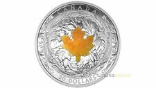 20 $ Dollar Majestic Maple Leaf Canada Drusy Pierre Quartz 2015 PP argent 1 once