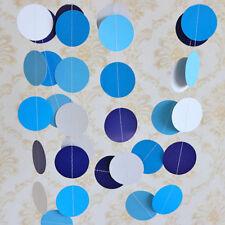 Glitter Circle Polka Dots  Paper Garland Banner Bunting Party Decor Gold 2Meter