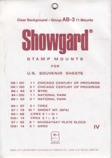 Showgard Clear Stamp Mounts Set Group AB US Souvenir Sheets to 1975 Lot Of 11