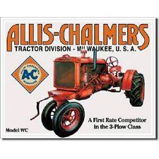 Allis Chalmers Tractor Farm Equipment Model WC Retro Vintage Wall Art Decor Sign