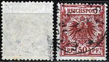 DR 50 a, O, 50 Pf. Krone/Adler, bräunlichrot, gepr. Zenker BPP
