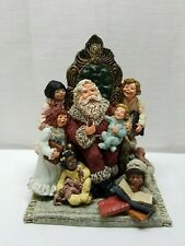 Vintage Christmas June McKenna Santa Claus Statue Bedtime Stories 1990 Children