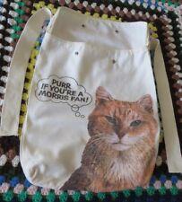 Westminster Dog Show Vtg 70s Morris The Cat Canvas Backpack Book Bag Nine Lives