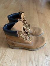 Timberland Premium Boots 6 Inch Wheat Men's 10.5 Nubuck