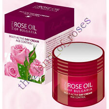 Multi Active DAY CREAM Age Control 50ml wt Pure BULGARIAN ROSE OIL, Paraben Free