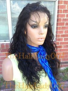 Wavy Full lace Wig, 100% Indian Remy Hair, Colors, Black, Brown, & Custom,