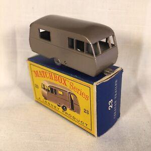 1960s.Lesney Matchbox 23 Caravan Trailer.RV.GPW,mint in box,Original