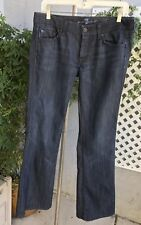 SEVEN FOR ALL MANKIND A-Pocket Womens Flare Mid-Rise Dark Wash Jeans Sz 29