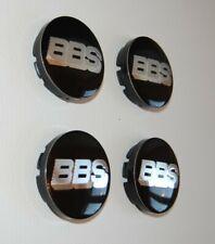4x BBS Nabendeckel Felgendeckel Nabenkappen 56mm schwarz Glanz NEU
