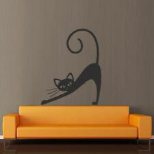 Wall Decal Cat Animal Dream Funny Cheerful Cartoon Tail Mustache decor M382