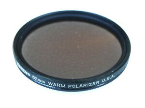 62mm Tiffen WARM Polarizer Filter - Linear Polarizing - Warming - NEW