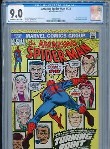 1973 MARVEL AMAZING SPIDER-MAN #121 DEATH OF GWEN STACY CGC 9.0 OW-W BOX3