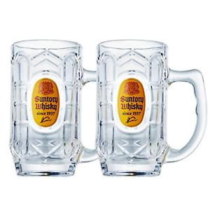 Suntory Kaku Whisky Soda Mug Glass 12.7oz. 375ml 1 Pair Set Japan Highball Cup