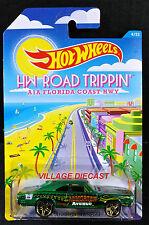 2015 Hot Wheels Road Trippin' #4 '69 Dodge Charger GREEN METALLIC/MOC