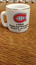 NHL STANLEY CUP CRAZY MINI MUG MONTREAL CANADIENS 1993 CHAMPS W/OPPONENT &SCORE