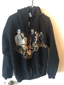 Twilight Saga Breaking Dawn Graphic Zip Hoodie Jacket Sweatshirt Movie Promo L