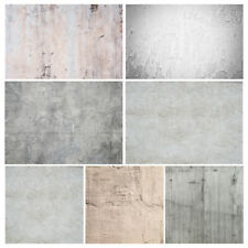 Concrete Gray Yellow Wall Vinyl Cloth Studio Photos Backdrop Photographic Props