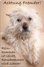 CAIRN Terrier - A4 Metall Warnschild Hundeschild SCHILD Türschild - CRT 03 T32