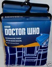 """TARDIS: BLUEPRINT"" PLUSH 50"" x 60"" COMFY THROW ~BBC~ DR WHO FREE USA SHIP"