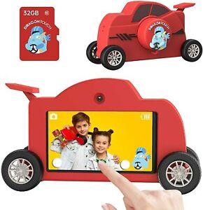 Dragon Touch Kids Camera 1080P HD 48MP 3.0 Inch IPS Touch Screen WiFi 32GB Car