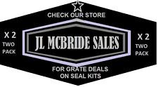X2 John Deere 7 Backho 2 Stabilizer Cylinder Seal Kits AM36221