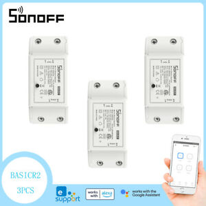 3PCS Sonoff Basic R2 Smart Home WiFi Wireless Switch Apple Android APP Ctrl UK