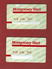 Vintage Expired Montgomery Ward Credit Card's (2) Rare
