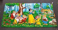 Vintage RARE print Snow White & The Seven Dwarfs Disney Beach Towel BRAZIL 58x30