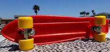 """Vintage Variflex of California 23"""" Mini Cruiser Skateboard 1980s Red UNUSED!!!!"""