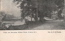 ASBURY PARK NEW JERSEY UNDER THE SPREADING WILLOW TREES~E H SMITH POSTCARD 1911