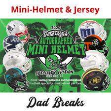 KANSAS CITY CHIEFS 2020 Gold Rush Specialty Mini Helmet + Jersey Autograph Break