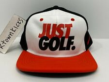 Nike Just Golf Boys Snapback Hat Orange Black White Adjustable