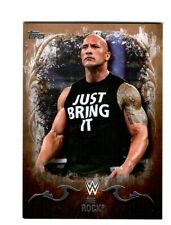 WWE The Rock #28 2016 Topps Undisputed Bronze Parallel Card SN 95 of 99