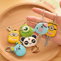 NWE Soft Key Top Head Cover Chain Cap Keyring Phone Strap Minion Silicone Case