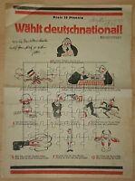 Pamphlet der SPD versus DNVP im Wahlkampf zur Reichstagswahl 1924 Karikaturen...