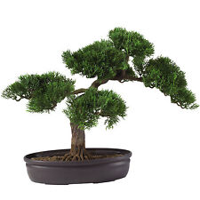 NEW CEDAR BONSAI TREE ARTIFICIAL FAKE FAUX PLANT GREEN POTTED DECORATION NATURAL